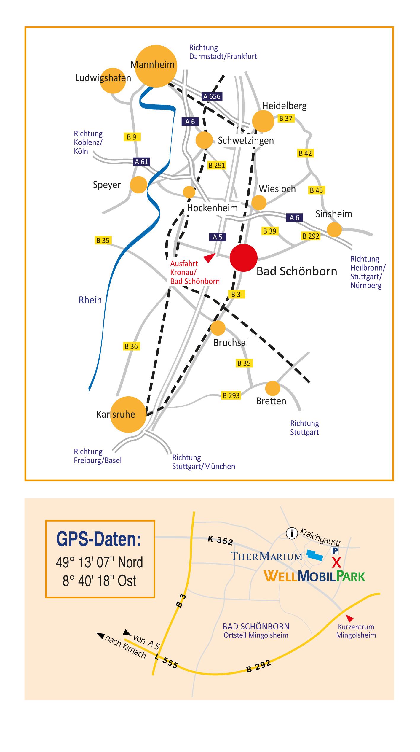 Anfahrtsplan Wellmobilpark Bad Schönborn